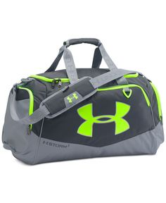 Stay organized for the gym or the weekend with this Undeniable duffle, made with Under Armour Storm technology designed to resist the elements.   Polyester   Imported   Exterior features: abrasion-res