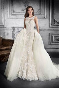 2e935b44f6de Demetrios Wedding Dress Style 757   An all-over-lace