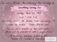 A perfect day to invite a loved one or special someone to enjoy an afternoon out enjoying some great tea and special music. One of the exciting and popular components to the afternoon will be the centerpieces which are created by each Table Host. The centerpieces will be given to a lucky guest at the end of the event. #GrowinNLovintheBIZ #Entrepreneurs