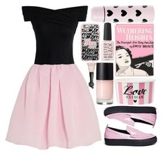 """""""Dark bubblegum"""" by paulina-bv ❤ liked on Polyvore featuring Chicwish, Ateljé 71, Carven, Olympia Le-Tan, Casetify, Anna Sui, Pink, black and loafers"""