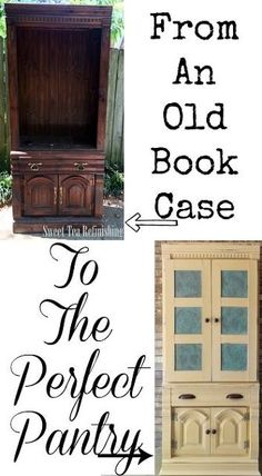 create a pantry from an old bookcase
