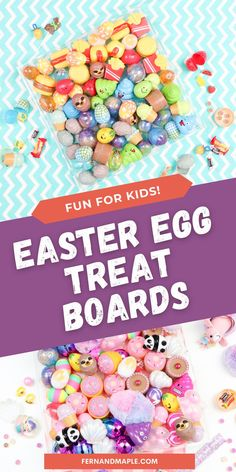 Create your own personalized Easter Surprise Treat Boards for your kids with a variety of egg shapes and colors, and tons of fun fillers! Get details now at fernandmaple.com!