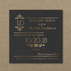 Imperial Flair - Imperial Invitation - Choose Your Color - Wedding Invitations - Wedding Invites - Wedding Invitation Ideas - View a Proof Online - #weddings #wedding #invitations