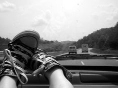 I was just sitting in the car with my feet propped up in my favorite pair of comfy shoes, thinking of how long it was going to take to get to where I wa. Comfy Shoes, Nike Air Force, Hiking Boots, Road Trip, Adidas Sneakers, Journey, Deviantart, Photography, Girlfriends