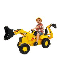 Take a look at this CAT® Backhoe Loader Pedal Ride-On today!