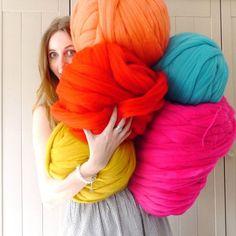 Riesen  extreme Merino Wolle  DIY Riesen von LaurenAstonDesigns