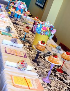colorful baby shower decor