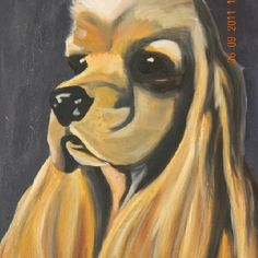 """Sammy"" watercolor on paper. By Julie Murphy"