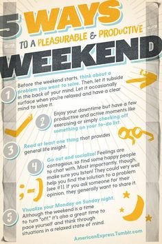 5 Ways to Be Productive on the Weekend Without Working [Infographic]