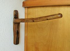 Applewood tree branch Wall Hook for paper towel holder, double toilet paper holder, natural towel rack, log cabin decor, rustic kitchen by Hookedtonature on Etsy