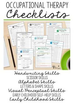 Occupational Therapy ASSESSMENT CHECKLISTS: