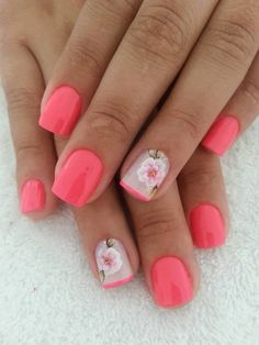 The bright pink color of such short caramel nails will suit bold, young and very romantic girls. Measured solidity of glossy varnish is diluted by elegant