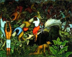 """Entering the city"" by Diego Rivera 1930"