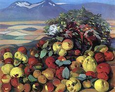 'Autumn still life', Oil On Canvas by Martiros Saryan (1880-1972, Russia)