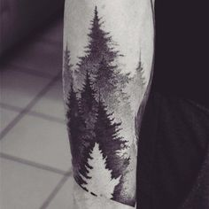 Forest tattoos are often great to look at since you know somewhere, there is actually a place that looks like it. You can make a design of a forest you've been before. #tattoosmen'ssleeves