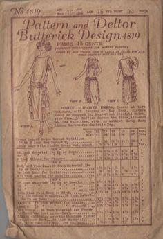 "1920s Drop Waist Ruffle Side Skirt ""Flapper"" Dress Misses' Vintage Pattern"