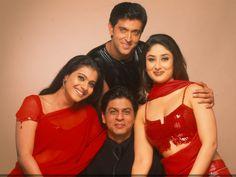 Shah Rukh Khan, Kajol, Hrithik Roshan and Kareena Kapoor from Kabhi Kushi Kabhi Gham