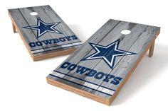 Dallas Cowboys Cornhole Board Set - Vintage (w/Bluetooth Speakers)