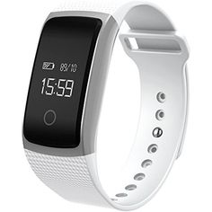 ZIYUO A09 Bluetooth Smart Heart Rate monitor Bracelet,Health monitor, Sleep monitoring,Pedometer,Smart watch with OLED Screen For Android IOS WH ** Check out the image by visiting the link. (This is an affiliate link) #ClipsArmWristbands