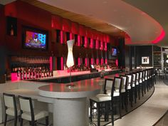 Beautiful colored bar accent lighting