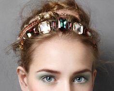 Headband gioiello con maxi pietre fake
