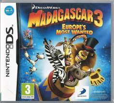 Dreamworks Madagascar 3: Europe s most wanted Nintendo Ds (plays 3ds in 2D)