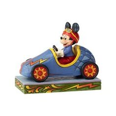 Disney Traditions Soap Box Derby Mickey Mouse Mickey Takes the Lead Statue by Jim Shore - Entertainment Earth Mickey Mouse Age, Mickey Mouse Figurines, Disney Figurines, Collectible Figurines, Disney Magical World, Boy Best Friend, Disney Traditions, Soap Boxes, Disney Cars