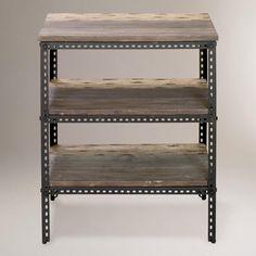 3-Shelf Industrial Metal Shelf-3-Shelf Industrial Metal Shelf | World Market