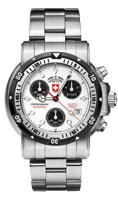 SEEWOLF 1 by Swiss Military™/CX Swiss Military Watch™; professional grade Swiss Made wrist watches on the official Swiss Military™ website. The authentic Swiss Military timepieces Stainless Steel Bracelet, Stainless Steel Case, Jellyfish Tank, Leather Passport Wallet, Swiss Watches For Men, 20 Min, Breitling, Chronograph, Quartz