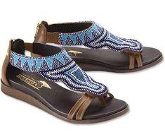 dbaf6a2aa87 Pikolinos Maasai-Beaded Gladiator Sandals for Women