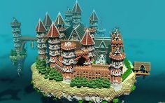 Heaven_Lords Castle In The Sky Minecraft World Save