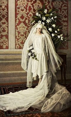 wedding dress 1928 €€€€€.....http://www.pinterest.com/peggyw6/brides/  .....€€€€€€€€€€€€€€€€€€€€€€€€€€€