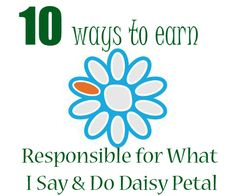10 ways to earn the Responsible for What I Say and Do Orange Daisy Girl Scout Petal