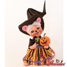 "Annalee Jack O Lantern Mouse 2011 - 6"""