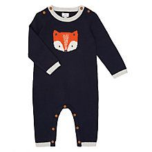 Buy John Lewis Baby Footless Knitted Fox Romper, Blue Online at johnlewis.com £19 Have bought this - John Lewis Size - 0-3mths