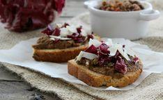 ostini al radicchio e lenticchie, uno sfizioso antipasto vegetariano, molto semplice da preparare. Gustosi e leggeri, sono ottimi anche per un pranzo veloce