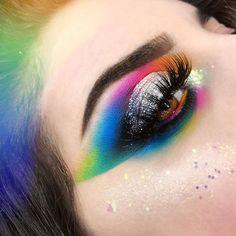Look by @gingermeatmua INTERGALACTIC RAINBOW CUTCREASE    . @joliebeauty intergalactic palette  . #intergalactic #joliebeauty #galaxymakeup #rainbowmakeup #rainbowcutcrease #mua #makeupaddict #makeupporn #spacemakeup #makeuplook #cutcrease #marioncameleon #alienmakeup #rainbow #makeuponfleek #glittermakeup #artisticmakeup #creativemakeup #facepaint #faceart #makeupporn #makeupgirl # # # # # Alien Makeup, Galaxy Makeup, Rainbow Makeup, Makeup On Fleek, Glitter Makeup, Creative Makeup, Girls Makeup, Face Art, Makeup Addict