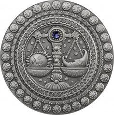 Srebrna Moneta - Waga, 20 rubli, Seria: Znaki zodiaku