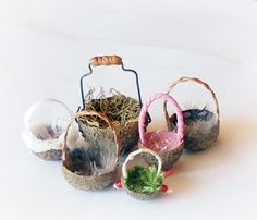tutorial - fairy baskets from acorn cups.