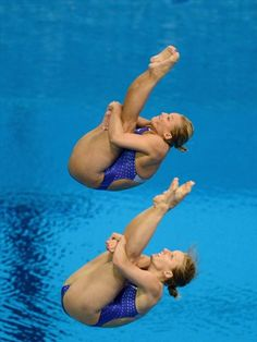 Team USA's Abigail Johnson and Kelci Bryant in action     Abigail Johnson and Kelci Bryant of the United States dive during the Women's Synchronized 3m Springboard Final at the 2012 London Olympic Games on July 29, 2012 in London, England.Photos - 2012 Olympics | London 2012