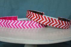 No Slip New Chevron Design Headband 7/8 in wide.  From Sweet Monkey Princess on Etsy.