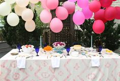 ombre balloons (non helium - hung upside down)