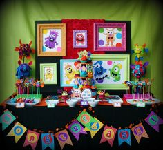 monster party supplies | Colorful Monster Bash Party - Kara's Party Ideas - The Place for All ...