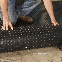 19 Tips for Finishing Basements Install Drainage Mats for a Warmer, Drier Floor - 14 Basement Finishing Tips: www.