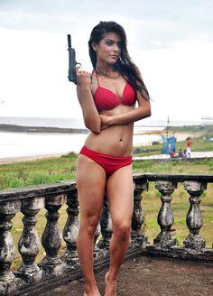 """Hot bikini photos of actress Madhurima Tuli of Airtel ad """"Boss ko bolo biwi bula rahi hai"""" fame, who will be playing role of Akshay Kumar's wife in film Baby. Indian Bikini, Red Bikini, Bollywood Bikini, Bikini Photos, Actress Photos, Celebrity Photos, Bikinis, Swimwear, Erotic"""