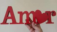Letras em MDF Para Decoração - Amor