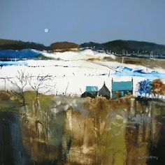 Dugald Findlay Cool Moon 12x12 Signed Limited Edition | Scottish Contemporary Art