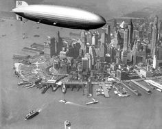 The Hindenburg above Manhattan