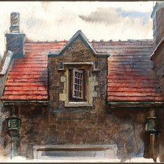 The open window. #watercolor #painted #urbansketchers #lighting #sketch #draw #window