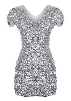 Silver Sequined Dress. Yes please! And only $21? Definitely getting this.